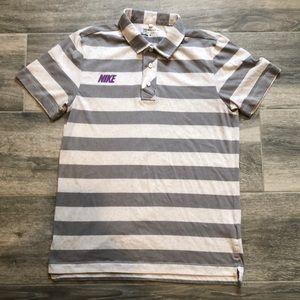 Nike Golf Dry-Fit Stripe Collar Shirt.
